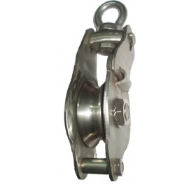 Swivel eye stainless steel snatch block