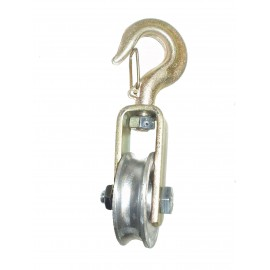Yoke pulley with aluminium sheave