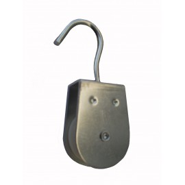 Stainless steel yoke pulley with hook for rope
