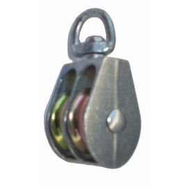 Double nickel plated swivel eye pulley