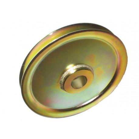 Réa acier sur bague bronze